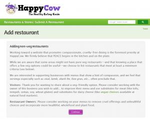 Screenshot: HappyCow.net